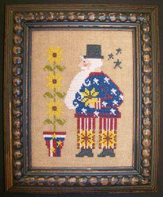 The Sunflower Seed - Sunflower Sam [TSS122625] - $7.00 : Laurel's Stitchery, The best little stitchery shop on the internet!