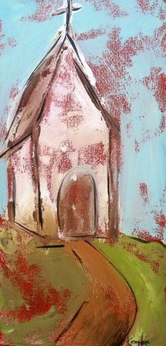 Old church on a dirt road by KaseyHope on Etsy, $70.00