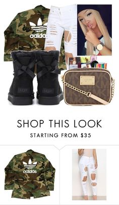 """""""Adidas"""" by ashantisowell on Polyvore featuring adidas and UGG"""