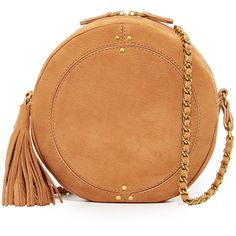 Jerome Dreyfuss Remi Circle Bag ($540) ❤ liked on Polyvore featuring bags, handbags, shoulder bags, chamois, leather shoulder bag, beige shoulder bag, leather cross body purse, leather handbags and genuine leather handbags