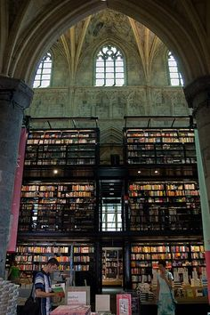 The Dutch have always been inventive and open minded in their solutions.  One of the most amazing book stores is housed in an 800 year old Dominican cathedral in Maastricht, Netherlands.