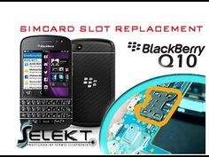 BlackBerry Q10 Simcard slot replacement / Wymiana złącza karty SIM | Selekt