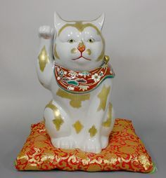 Maneki Neko - Arita. White Porcelain. Circa Early to Mid 20th ...