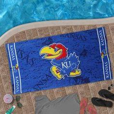 McArthur Kansas Jayhawks 30'' x 60'' Royal Blue Beach Towel #fanaticssummerwishlist