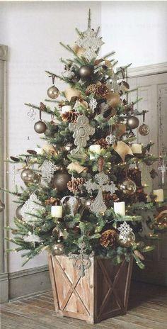 Neutral tone Christmas tree. Repinned from Vital Outburst clothing vitaloutburst.com