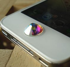 Swarovski's Crystals Home Button for Apple iPhone