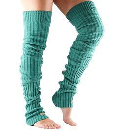 Thigh High Leg Warmers, Thigh High Socks, Thigh Highs, Leg Warmers Outfit, Knit Leg Warmers, Barre Socks, Orange Fashion, Stocking Tights, Knitting Designs