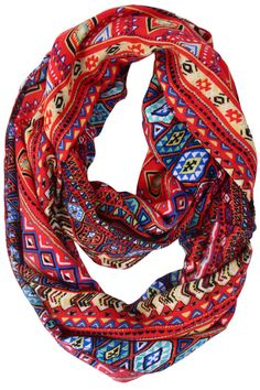 Athena Tribal Infinity Scarf. Gimme. - didn't see this one the site, BUT they DID have a bunch of cute ones under $20!