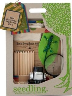 Seedling The explorers kit `One size Details : Fabric Bag, LED headlamp, Drawing Books, Colour Pencils, magnifying glass, List of insects Age : Age 5 and upwards Height : 38 cm Width : 27 cm Thickness 8 cm EN71 approved for 18m http://www.comparestoreprices.co.uk/january-2017-7/seedling-the-explorers-kit-one-size.asp