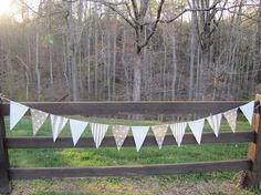 burlap and linen banner