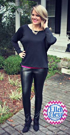 Tis the season for LEGGINGS! YES!!! www.Facebook.com/EllaBleuBoutique