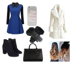 """""""4,3,2 days till Christmas"""" by emma-387 ❤ liked on Polyvore featuring WithChic, Monsoon and Yves Saint Laurent"""