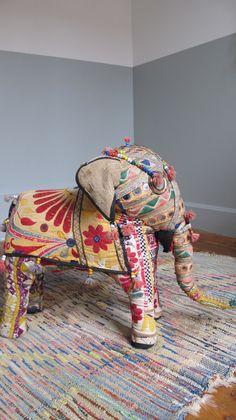 Grand Elèphant en tissu vintage , €65.00 by LES PETITS BOHEMES