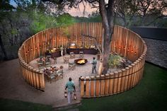 andBeyond Tengile River Lodge is a brand new luxury safari property situated in the prestigious Sabi Sand Game Reserve in South Africa. Landscape Architecture, Landscape Design, Ideas Cabaña, River Lodge, Garden Design Plans, Farm Stay, Garden Structures, Garden Cottage, Back Gardens