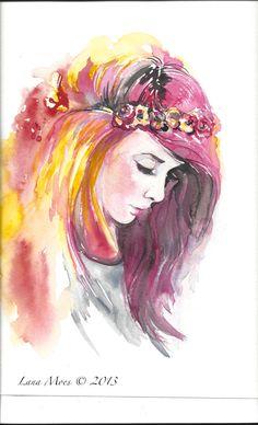 Original Watercolor Painting Memories of Sweet Summer