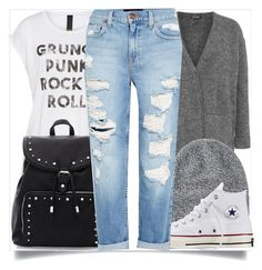 """""""School Wear"""" by madeinmalaysia ❤ liked on Polyvore featuring Topshop, Axel, Toast, Converse and Genetic Denim"""
