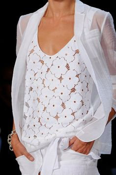White Pants,Blouse Dressy Outfit FROM. Spring 2012 Details