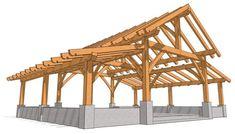Sleeping Loft, Timber Frame Homes, 3 D, Monitor, House Plans, Diy Pole Barn, Pole Barn Plans, Barn Home Designs, Pole Barn Designs