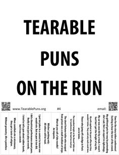 A list of puns, jokes, and tearable pun posters. We email the best in dry humor and bad puns for free. They're so ripping good you want a Tearable Pun in your pocket! Puns Jokes, Funny Puns, Dad Jokes, Funny Quotes, Funny Stuff, Funny Shit, Hilarious, Grammar Posters, Christian Jokes
