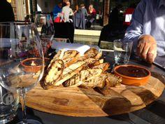 Amisfield Winery 'Trust the Chef' degustation bread board #nzwine #queenstown