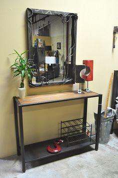 MirrorWConsoleWeb.jpg   Steel and dark walnut wood console b…   Flickr