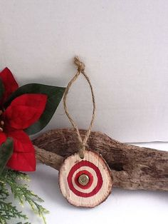 Bullseye Bullet Ornament/Hunting/Hunter/ by NauticalWeddings