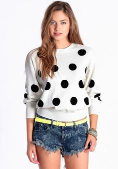 Domino Effect Sweater By MINKPINK 79.00 at threadsence.com