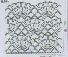 crochet lace dress with fance stitch, crochet pattern Crochet Edging Patterns, Crochet Vest Pattern, Crochet Collar, Crochet Diagram, Crochet Chart, Stitch Patterns, Knitting Patterns, Motif Bikini Crochet, Crochet Lace