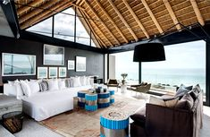 Silver Bay Holiday House by SAOTA Architects holiday house cozy living room