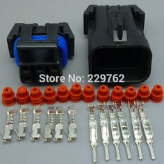 100sets 6 Pin male and female Auto plug connector,Car waterproof Electrical wire connector automotive socket 12052848