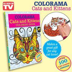 Colorama Cats Designs Coloring Book
