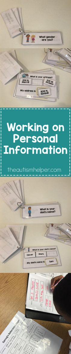 If you target one functional literacy goal this year – make it personal information. We can do tons of work with this critical skill & create specific goals for every learner. Check out my tips & video tutorials today on the blog!! From theautismhelper.com #theautismhelper