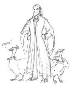 Malfoy and his albino guard peacocks. XD art by Makani, #Harry #Potter #Malfoy