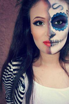 Halloween idea. Very pretty.