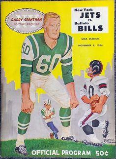 AFL game program (Buffalo Bills at New York Jets — November Bills Football, Jets Football, Raiders Football, Football Program, School Football, Football Art, Oakland Raiders, American Football League, National Football League