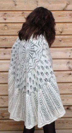 Ruth and Belinda - knitting pattern, traditional baby knitting shawl, lace shawl, circular shawl knitting pattern, easy shawl knitting pattern