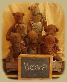 PatternMart.com ::. PatternMart: Bear Necessities Grungy Old bear Dolls Pattern