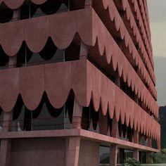Ardia Palace Tirana - Closeup Facade - Valerio Olgiati