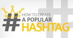 Five Ways to Create a Popular Hashtag on Any Social Network: http://blog.pageyourself.com/en/5-ways-to-create-a-popular-hashtag/