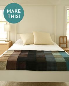 scroll down for cool quilting video credit: The Purl Bee [http://www.purlbee.com/felted-wool-patchwork-throw/]
