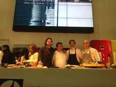 Co-owner Gabriel, Head Chef Robert Ortiz, Executive Chef Virgilio Martinez and Roberto after their demo in the Electrolux