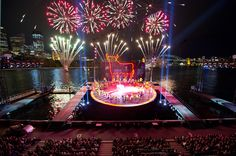 """Handa Opera on Sydney Harbour """"Carmen"""", quite a spectacular production complete with fireworks! Theater, Entertainment Center Redo, Great Speakers, Opus, Diy Tv, Seasons Of The Year, Scenic Design, Video New, Live Events"""