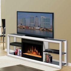 Dimplex Novara Entertainment Center Electric Fireplace - SAPHL-300-W