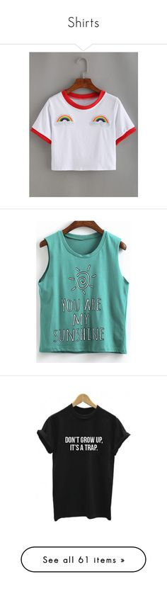 Designer Clothes, Shoes & Bags for Women Summer Crop Tops, Cropped Tops, Crop Tee, My Sunshine, Short Sleeve Tee, Cami, Rainbow, Tees, Polyvore