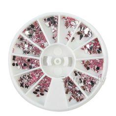Pink Rhinestones! Use code AAX31 for 10% off  @BornPrettyStore, Nail Art Decoration Glam Mini Rhinestoned Dro... at $3.99. http://www.bornprettystore.com/-p-14307.html