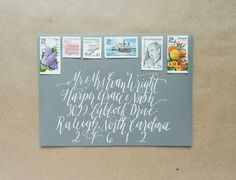 Creating white calligraphy is easy if you have the tools and knowledge, plus a couple of tips! This tutorial shares all you need to know to get started. Calligraphy Tutorial, Calligraphy Envelope, Learn Calligraphy, Calligraphy Letters, Modern Calligraphy, Envelope Art, Caligraphy, Envelope Addressing, Postman's Knock
