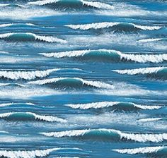 Cotton Landscape Medley Ocean Waves Whitecaps Water Blue Cotton Fabric Print by the Yard (297-blue) Elizabeth's Studio http://www.amazon.com/dp/B0060B4YVE/ref=cm_sw_r_pi_dp_UcUMwb0HWPR5R