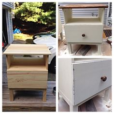 Ikea Tarva Nightstand Hack before & after