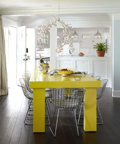 Dining room designed by Keller Brown Design & Decoration. Photo by Laura Moss.