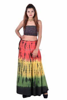 Indian Regular Size Full Skirts for Women Summer Wraps, Wrap Around Skirt, Neo Soul, Full Skirts, Tie Dye Skirt, Calves, Indian, Cotton, Shopping